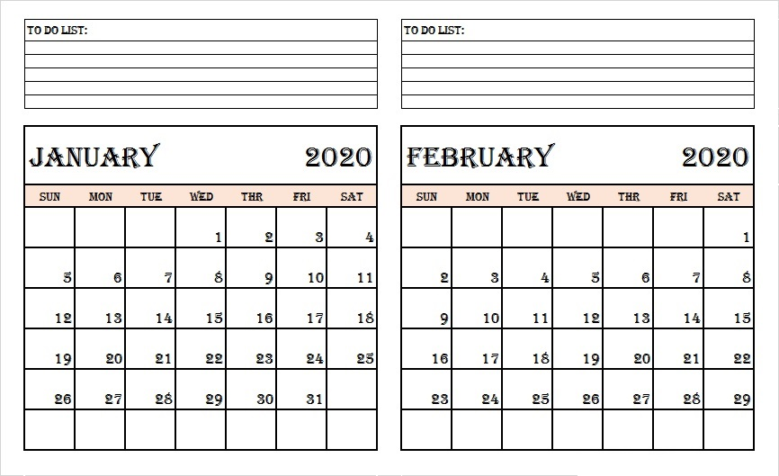 January-and-February-2020-Calendar-with-Notes