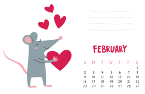 Cute February 2020 Calendar Pages