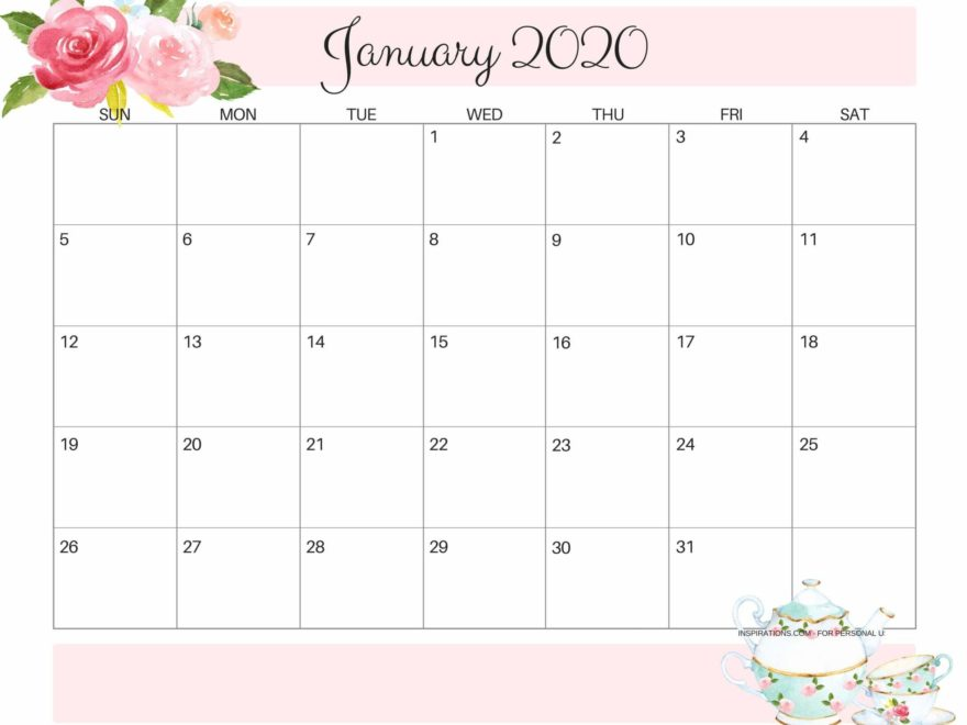 Printable 2020 Calendar By Month.January 2020 Calendar Us Monthly Printable Template 12