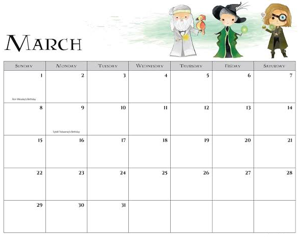 Free March 2020 Calendar Printable Word Sheet