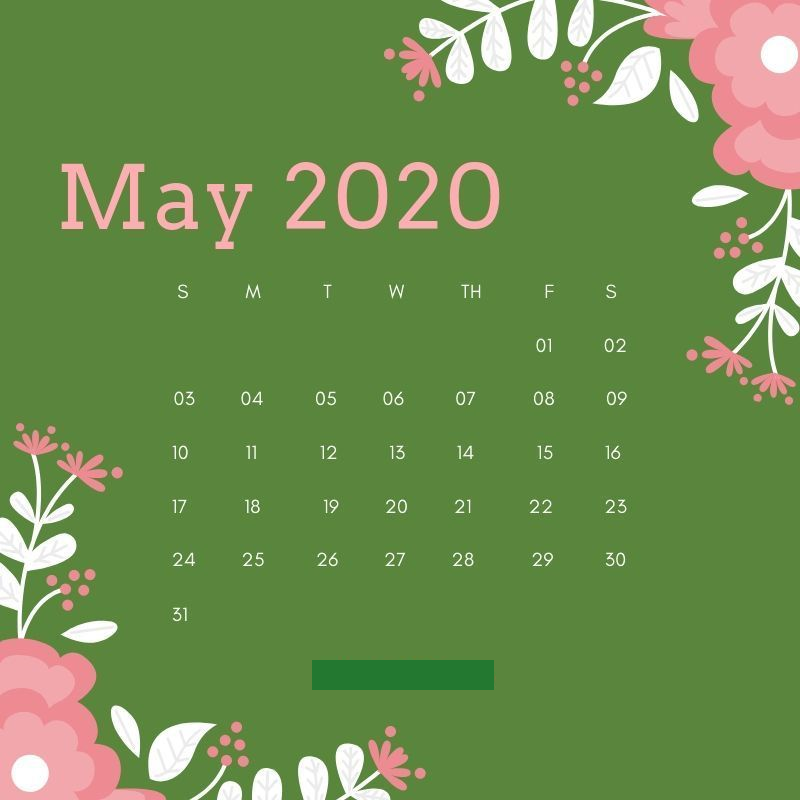Cute May 2020 Calendar Download