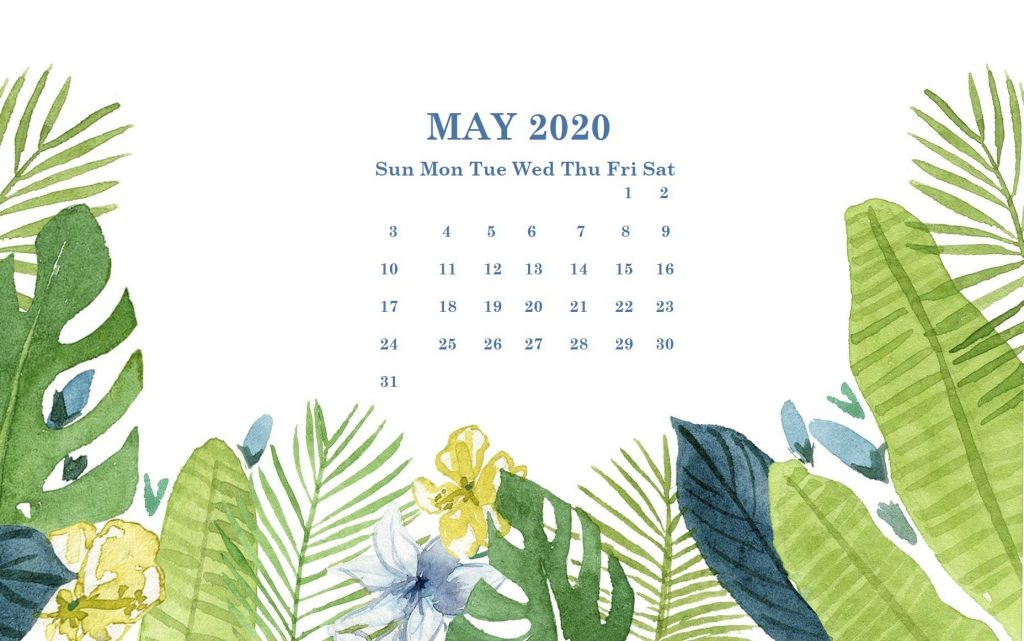 Cute May 2020 Printable Calendar