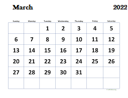 Pdf-Calendar-March-2022
