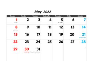 may-2022-calendar-with-holidays freeprint